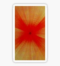 Op-art time tunnel - bloodshot red Sticker
