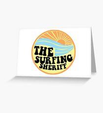 Surfing Sheriff Greeting Card