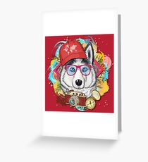 The World Traveler Wolf Greeting Card
