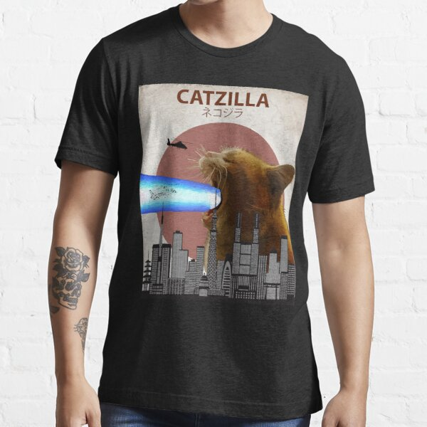 Catzilla - Giant Cat with Mouth Lasers Essential T-Shirt