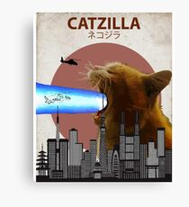 Catzilla - Giant Cat with Mouth Lasers Canvas Print