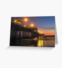 Surf City Lights Greeting Card
