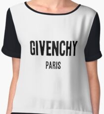 Givenchy paris Black Women's Chiffon Top
