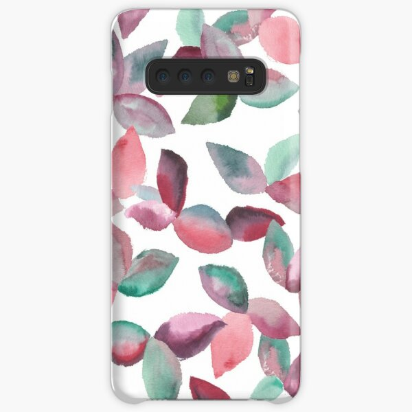 Watercolor Leaves Hand-Painted Red Green Botanical Pattern Samsung Galaxy Snap Case