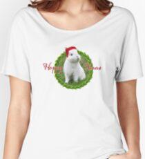 Porsche's Rescue – Christmas Rabbit – Hoppy Xmas Women's Relaxed Fit T-Shirt