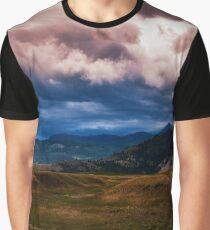 Montana Mountain Storm Graphic T-Shirt