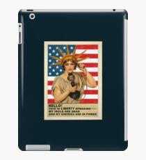 Funny: Liberty, Politics, Protest - Vintage, Retro. iPad Case/Skin