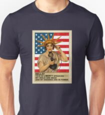 Funny: Liberty, Politics, Protest - Vintage, Retro. T-Shirt