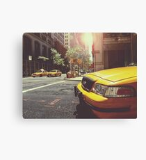 Taxi Cabs In New York City NYC Canvas Print