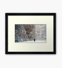 Downtown Pittsfield Snow Squall  Framed Print