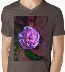 Pale Pink Flower with a Green Leaf T-Shirt