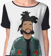 Weeknd Roses Women's Chiffon Top