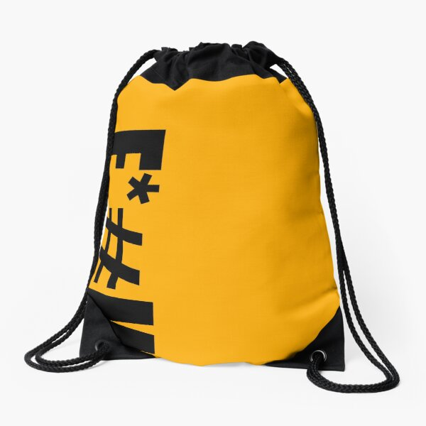 F*#K Sign Off Drawstring Bag