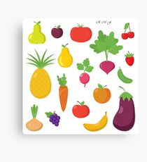 fruits and vegetables Canvas Print