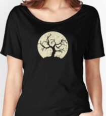 Moon tree halloween gift Women's Relaxed Fit T-Shirt