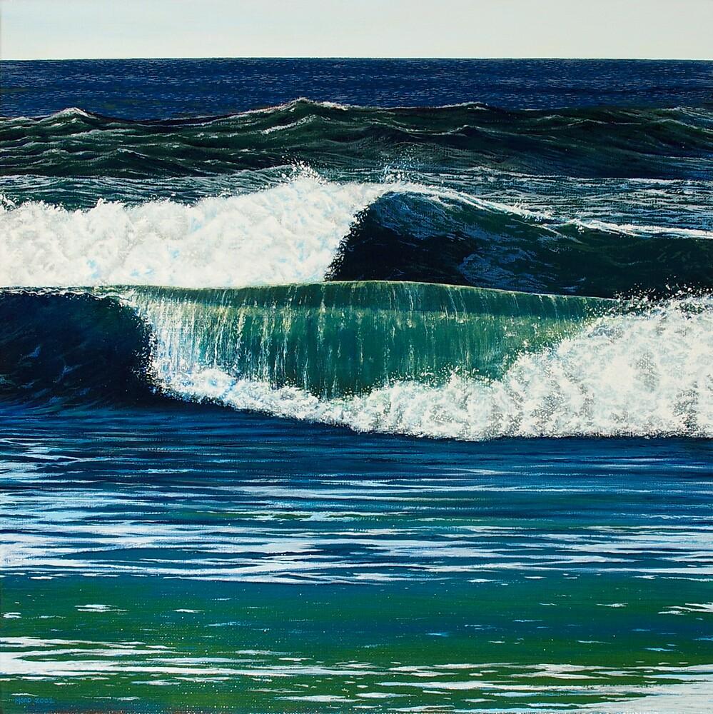 """Absinthe 2 (The Green Goddess)"" 50x50cm, oil on linen. by Jason Moad"