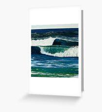 """Absinthe 2 (The Green Goddess)"" 50x50cm, oil on linen. Greeting Card"