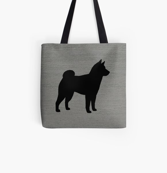 Canvas bag Shiba inu silhouette