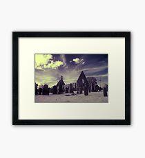 Infrared Kirk, Scotland. Framed Print