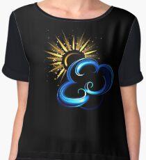 Glowing sun and cloud Women's Chiffon Top
