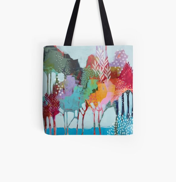 Floral Trees 2 All Over Print Tote Bag
