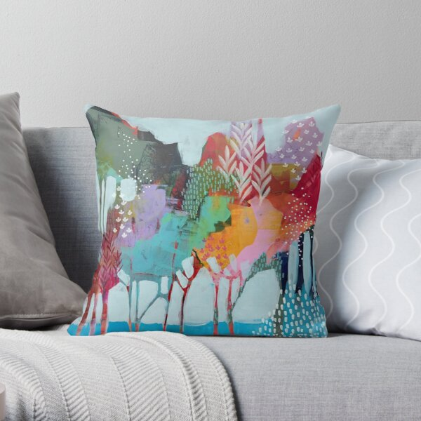 Floral Trees 2 Throw Pillow