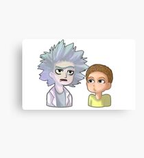Rick and Morty anime chibi Canvas Print