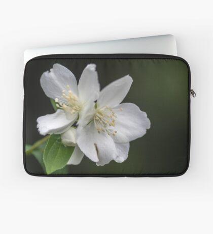 White Spring Flowers Laptop Sleeve