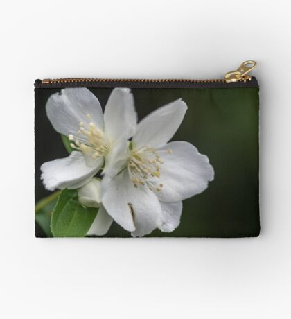 White Spring Flowers Studio Pouch