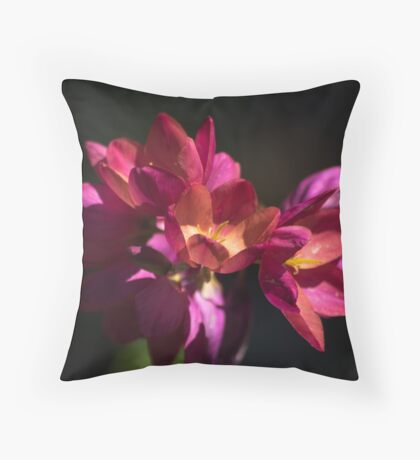 Flowers of Red and Pink Throw Pillow