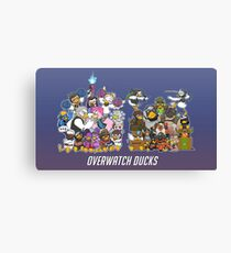 Cute and funny Overwatch Ducks Canvas Print