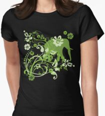 Beautiful Green Floral Elephant Swirls T-Shirt