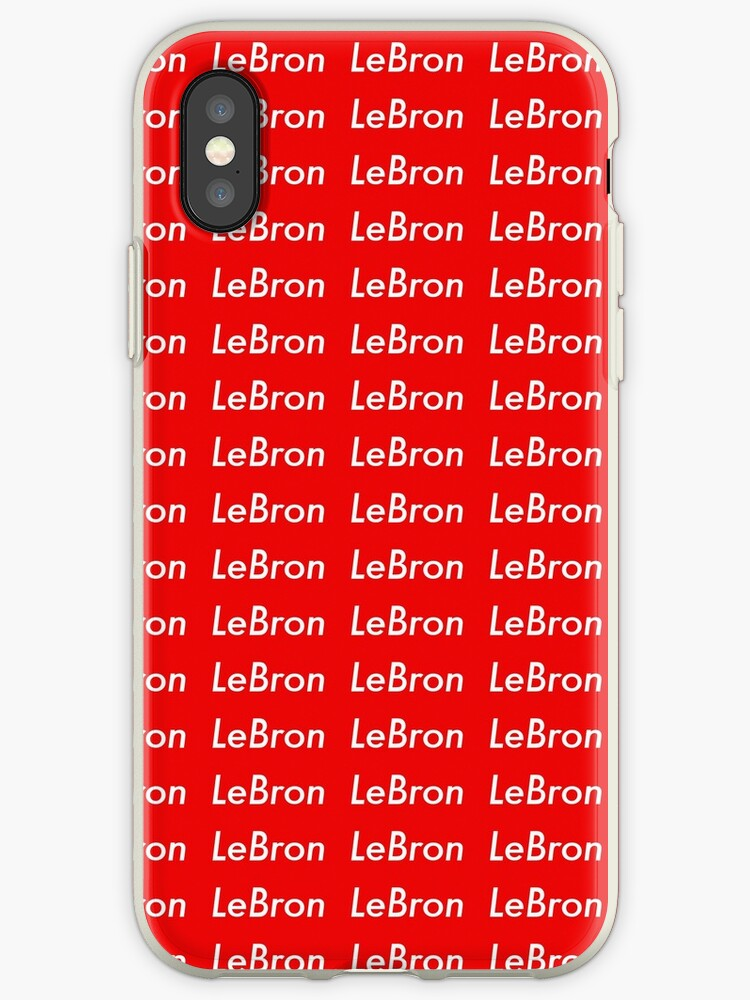 competitive price f28d2 2ddee 'LeBron James Supreme Logo Sticker' iPhone Case by JohnCRiva