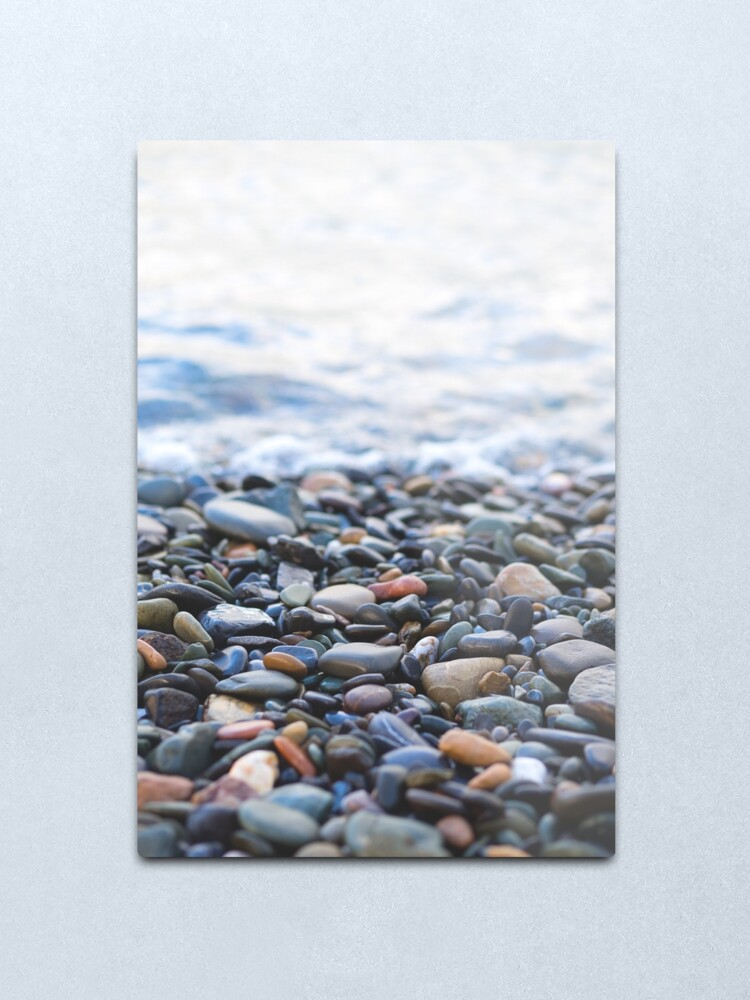 Alternate view of Pebbles on the Beach Metal Print