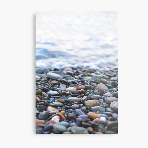 Pebbles on the Beach Metal Print