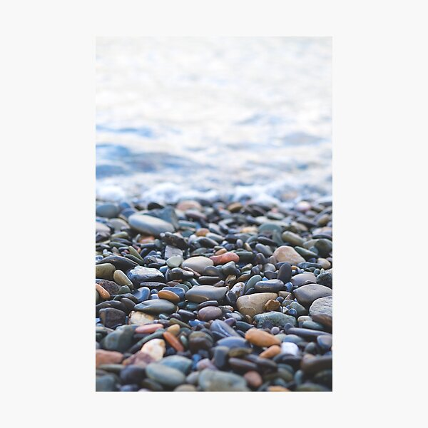 Pebbles on the Beach Photographic Print