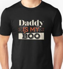 Daddy Is My Boo Ghost Spider Web Halloween  T-Shirt