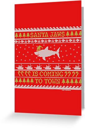 Santa Jaws Ugly Sweater by bastardcard