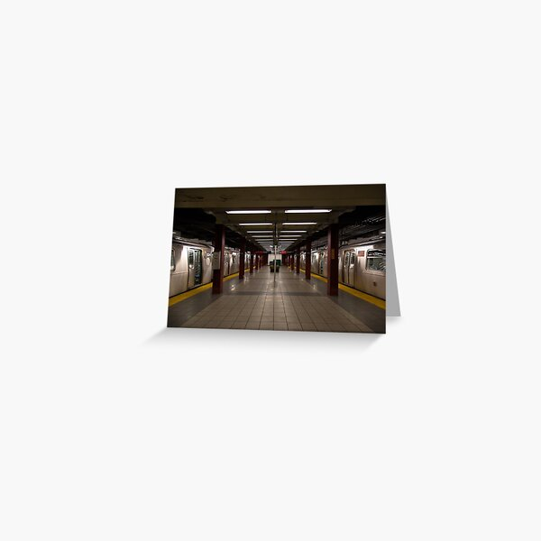 New York Subway Greeting Card