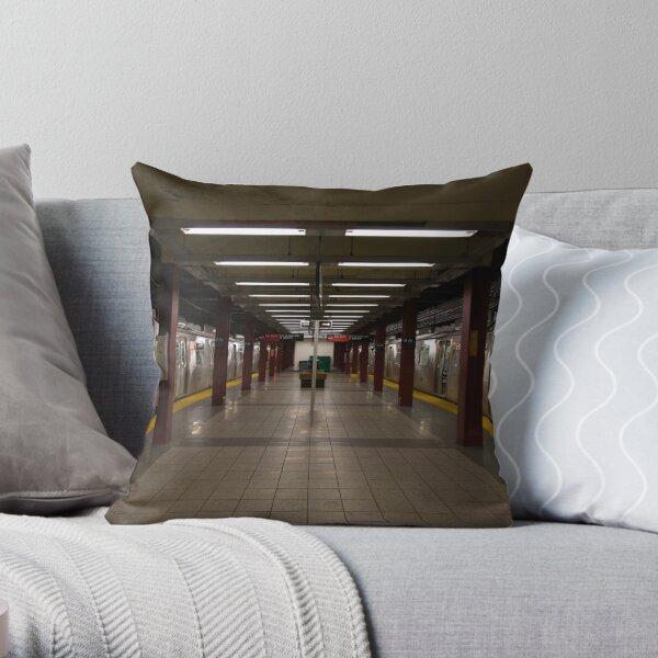 New York Subway Throw Pillow