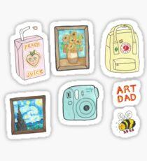 künstlerisches Aufkleberpaket Sticker