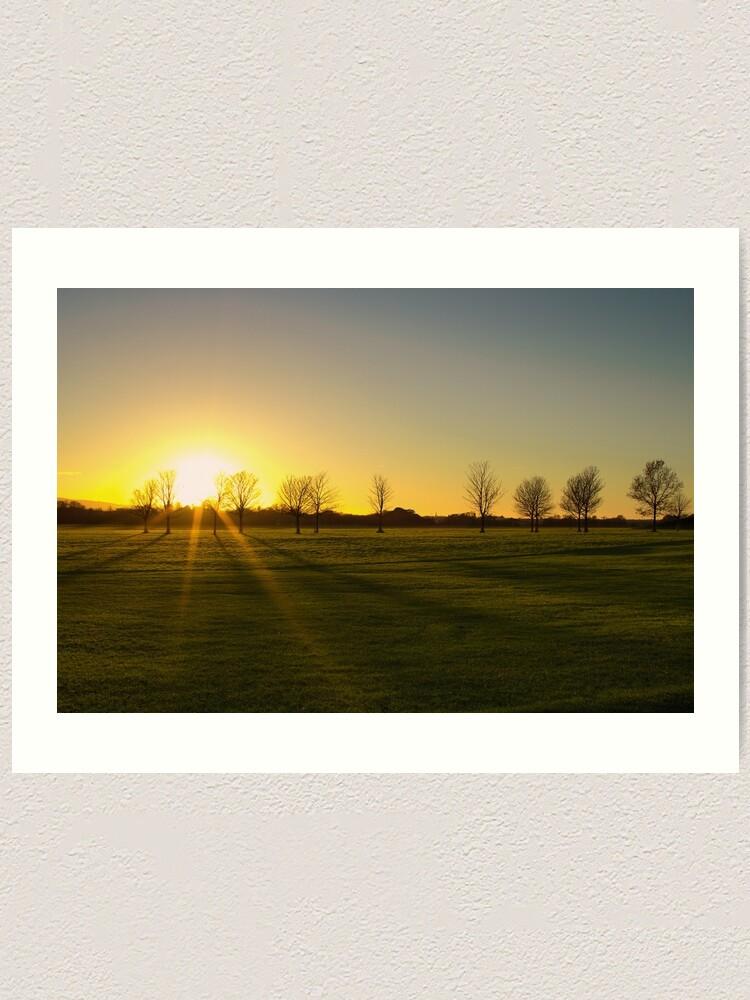 Alternate view of Sunset in the Phoenix Park, Dublin Art Print