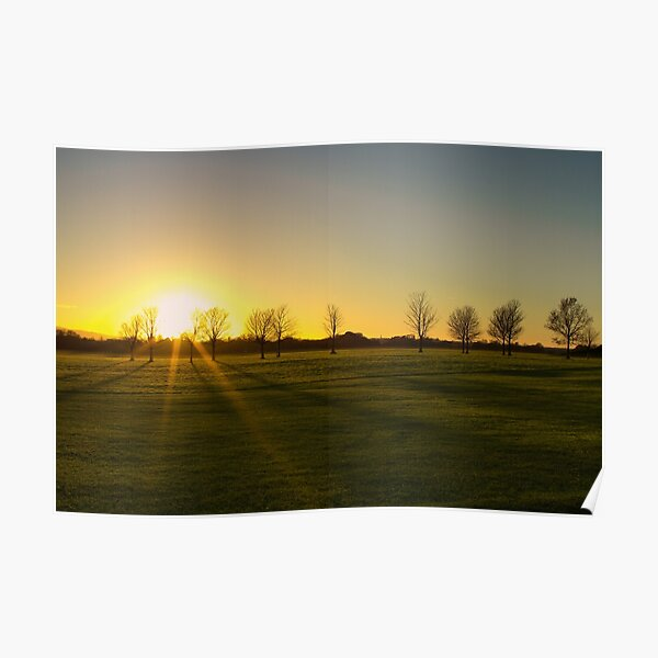Sunset in the Phoenix Park, Dublin Poster