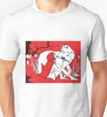 lady with wolf T-Shirt