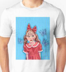 Broken Doll with Blue Butterflies  T-Shirt