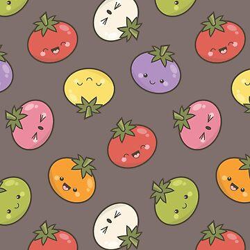 7 Shades of Kawaii Tomato by LisaMarieArt