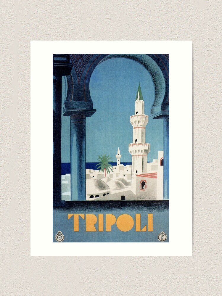 Tripoli 1930 Libya LARGE METAL TIN SIGN POSTER VINTAGE STYLE WALL PLAQUE