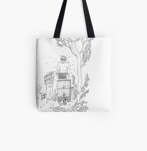 beegarden.works 004 All Over Print Tote Bag