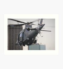 Navy Chopper Art Print