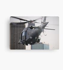 Navy Chopper Metal Print